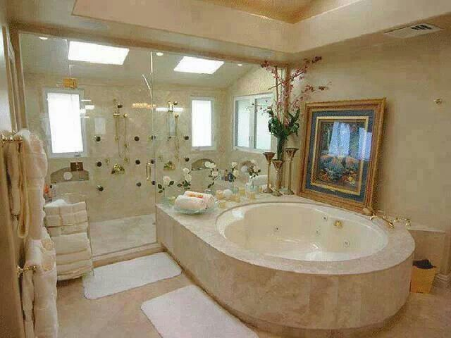 Best looking shower and bath tub ever dream baths for Best bathrooms ever