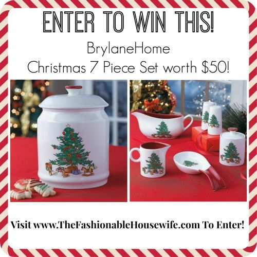Day 7 Giveaway – BrylaneHome Christmas 7 Piece Set worth $50!