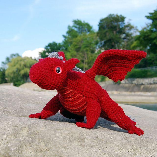 Baby Dragon Amigurumi Pattern : Amigurumi Baby Dragon pattern by Karla Fitch