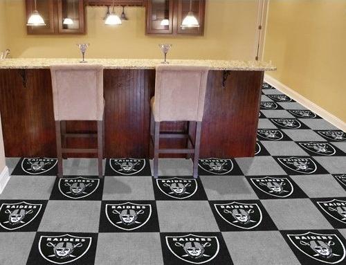 Raiders floor man cave man caven pinterest for Oakland flooring