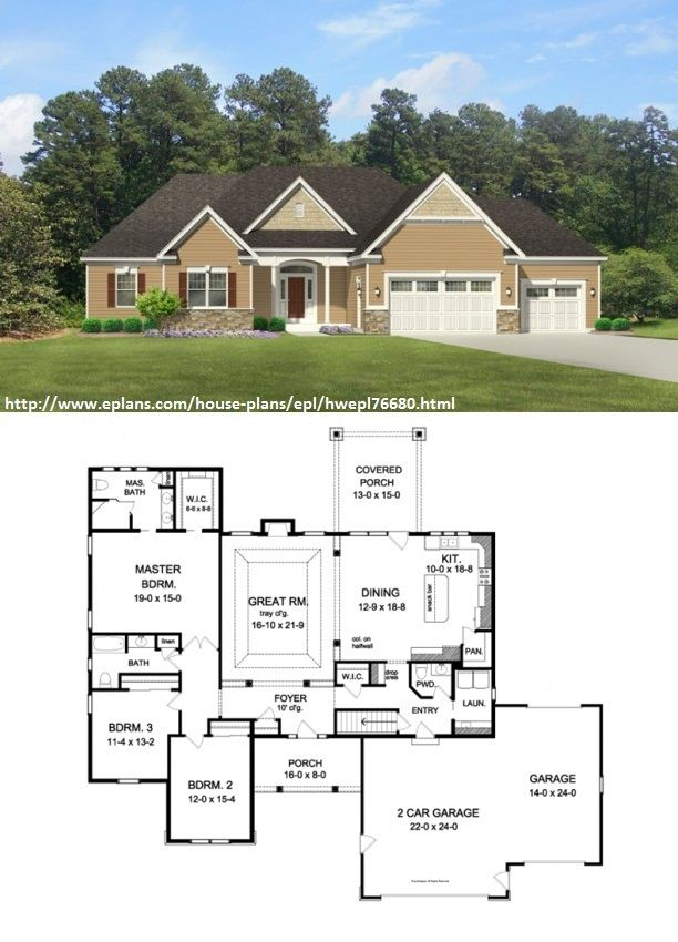 Eplans ranch house plan simple triplex 3776 square feet for Eplan house plans