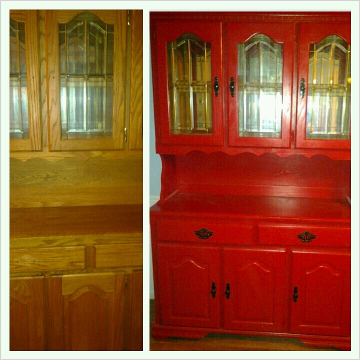 Before And After Painted China Cabinet Furniture Pinterest