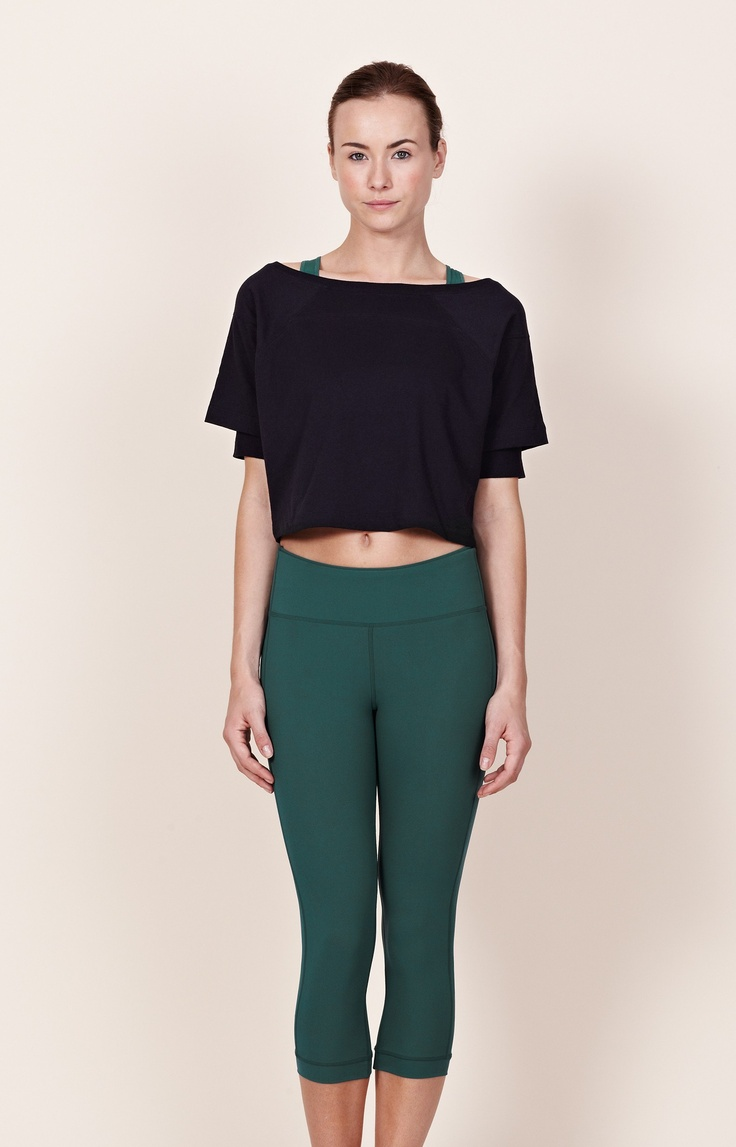 Beautiful ODLO Womens Warm Three Quarter Length Pant  Black  Simply Piste UK