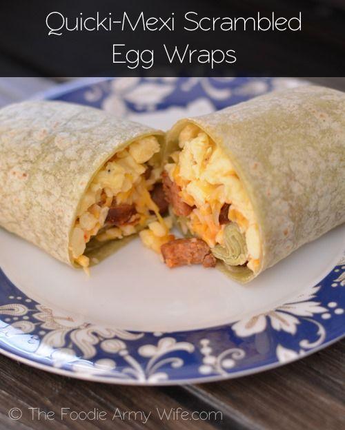 Quicki-Mexi Scrambled Egg Wraps | #WeekdaySupper #ChooseDreams