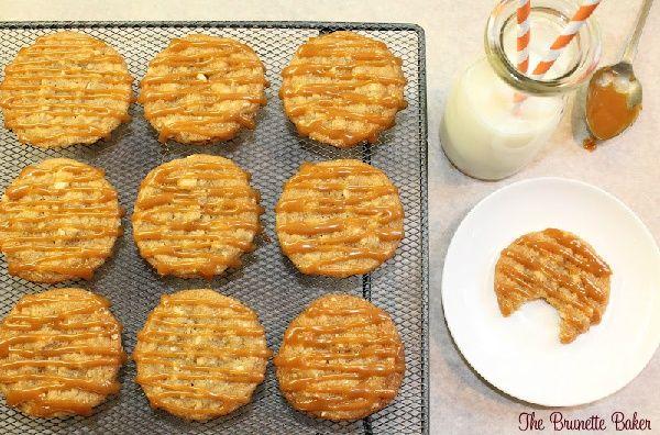 Caramel Cashew Cookies.   The Brunette Baker   Pinterest