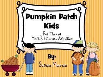 Happy Fall! Sale: Pumpkin Patch Kids - Fall Literacy & Math Centers, only $3.20