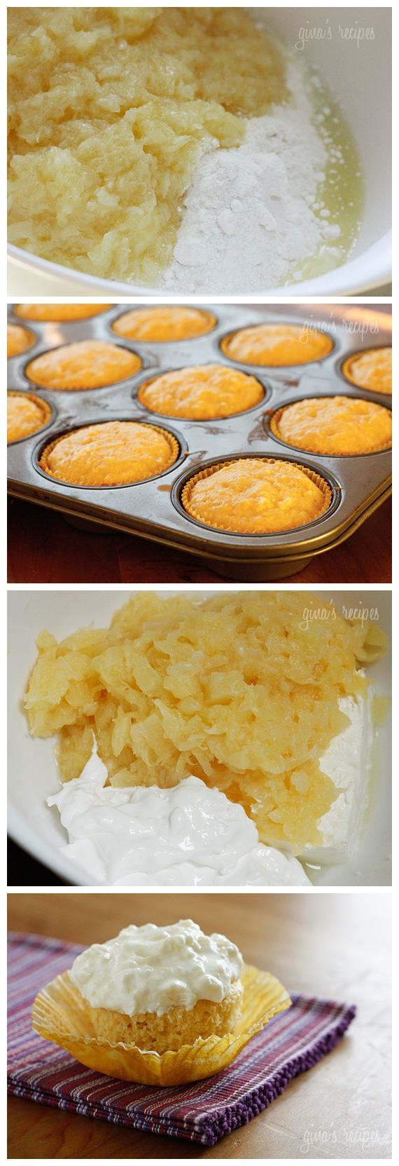 Pineapple Bliss Cupcakes | sweets | Pinterest