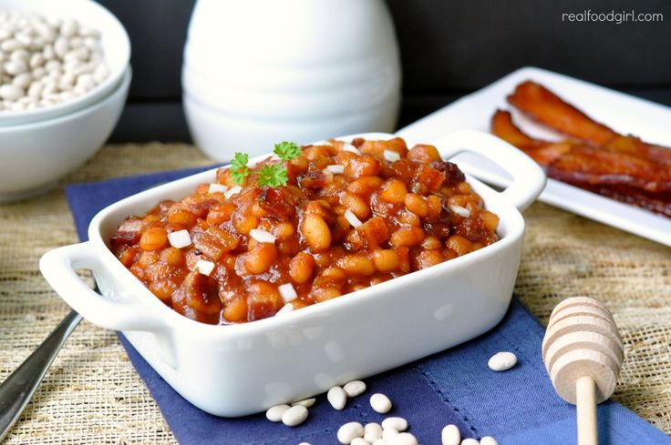 Stove-Top Brown Sugar & Maple Baked Beans (with bacon) by Real Food ...