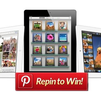 Pinterest Repin to WIN a New IPAD!!!