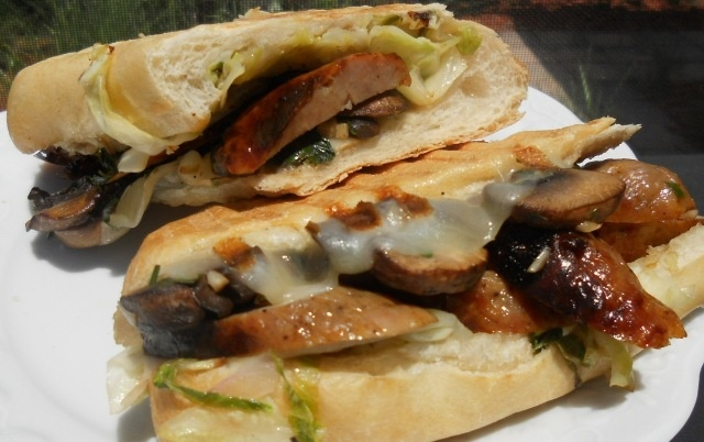 KC in the Kitchen: Italian Sausage, Grilled Mushroom, Provolone Cheese ...