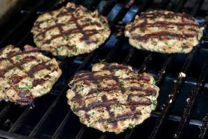 ... - Recipe for Grilled Middle Eastern Turkey Burgers with Yogurt Sauce