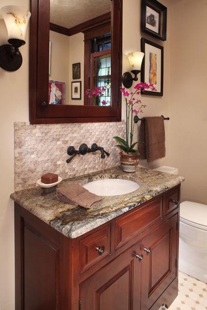 tile backsplash in powder room decor ideas pinterest