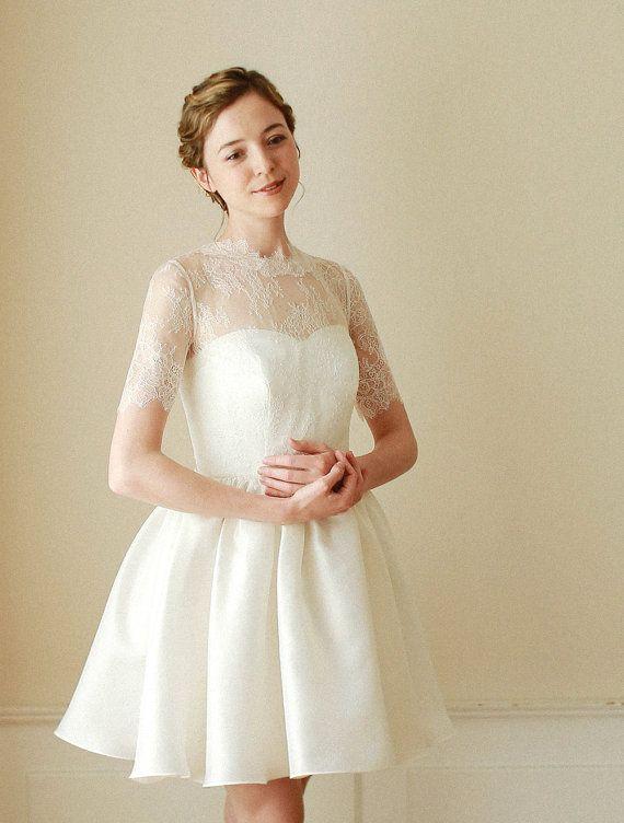 wedding lace bolero bridal lace top wedding top bridal cover up w