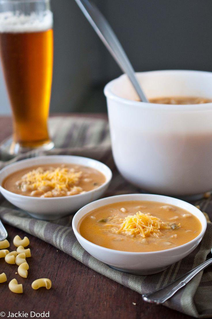 Macaroni and Cheese Beer Soup - amazing comfort food soup. Husband was ...