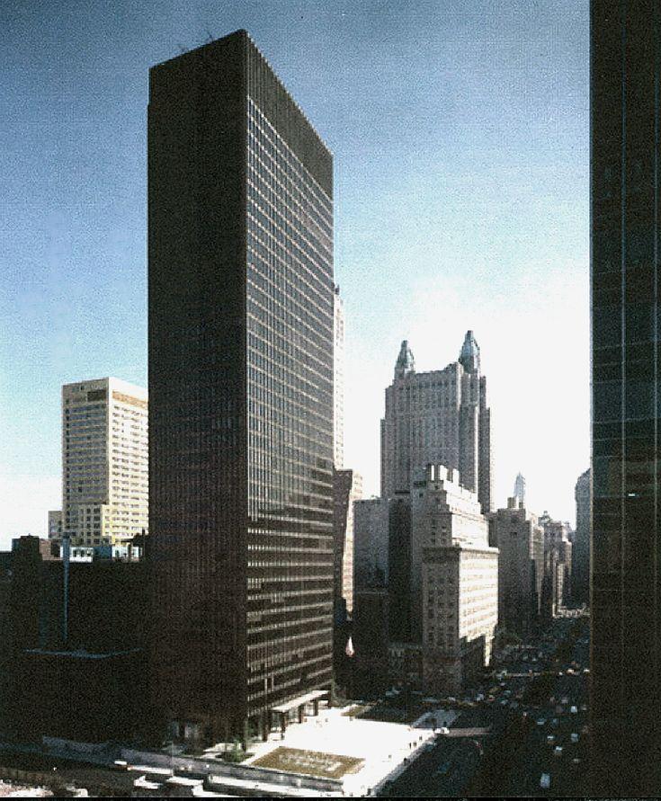 Seagram Building Geometric Modern Mies Van Der Heritage FIN