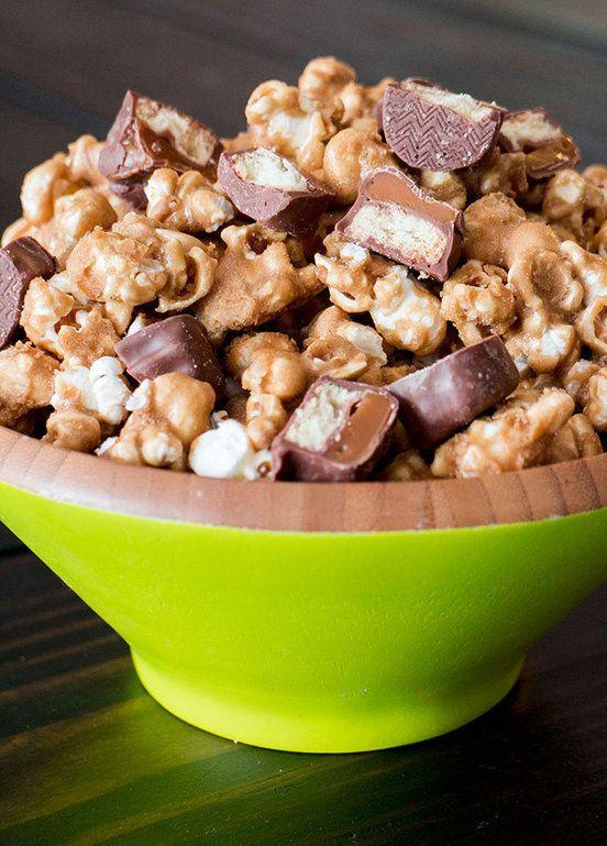 Caramel TWIX Popcorn Recipe | Side Dishes | Pinterest