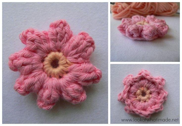 Crochet Popcorn Flower Free Pattern : How to Crochet: Popcorn Stitch ~ free Crochet flowers ...