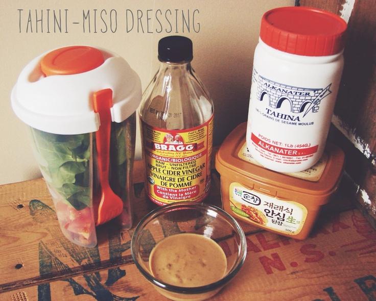 Tahini Miso Salad Dressing | [Salads and salad dressing] | Pinterest