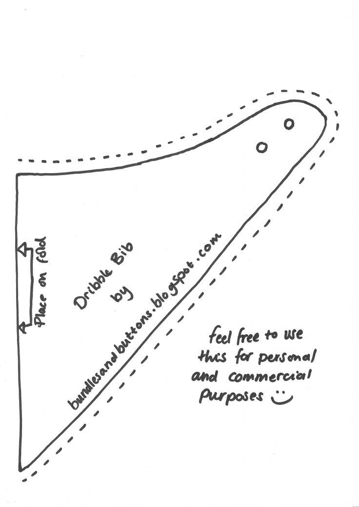 Dribble Bib Pattern.pdf - Google Drive | Fete | Pinterest