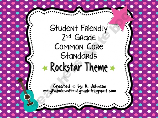 2nd Grade Common Core Posters - Rockstar Theme: to check out later