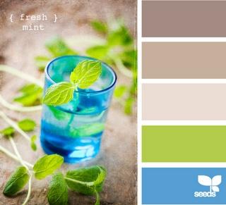 azzurro e verde acido