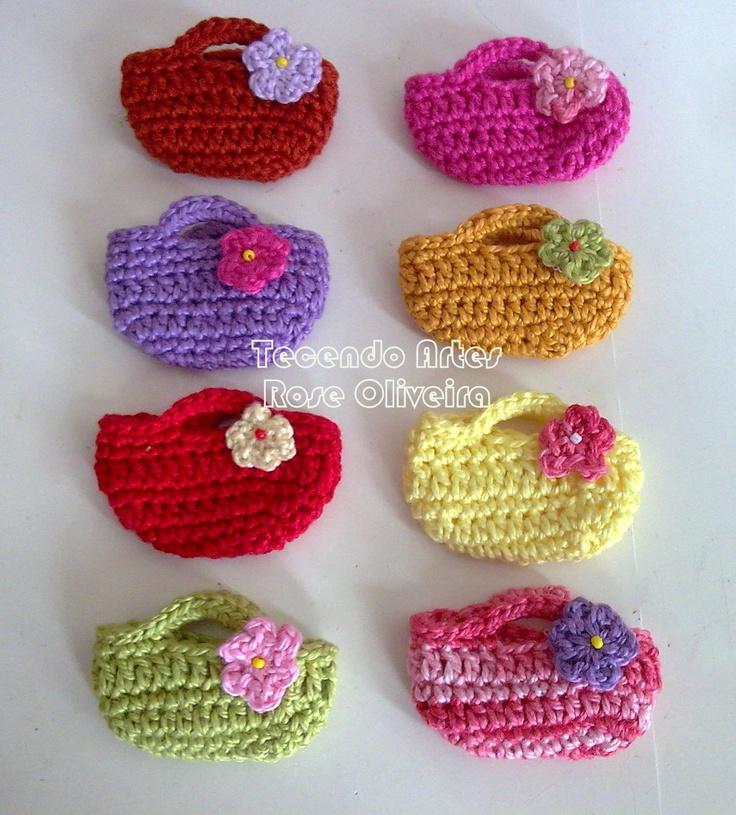 bags - tutorial Crochet Purses Pinterest