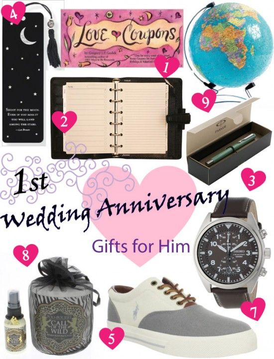 First Wedding Anniversary Gifts For Him Ideas : Paper Anniversary Gift Ideas for Him