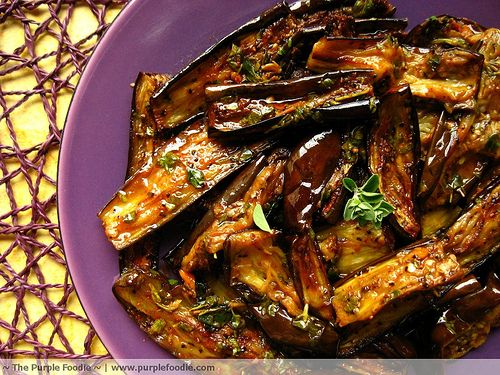 Marinated Eggplant with Garlic and Herbs