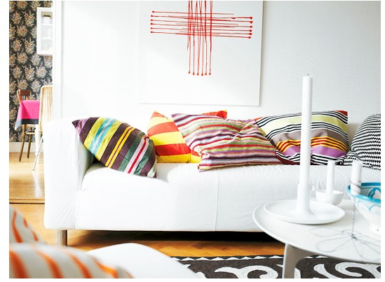 stripe pillows