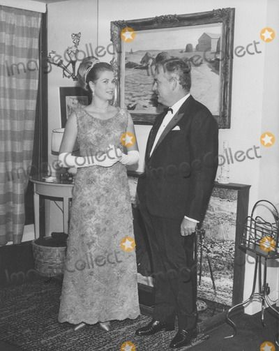 Grace Kelly/princess Grace and Husband Prince Rainier at a Charity ...
