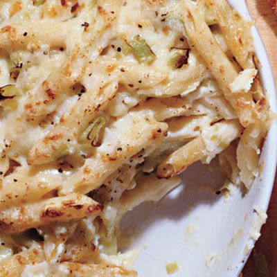 Recipes & Menus | Recipes Baked Penne with Farmhouse Cheddar and Leeks ...