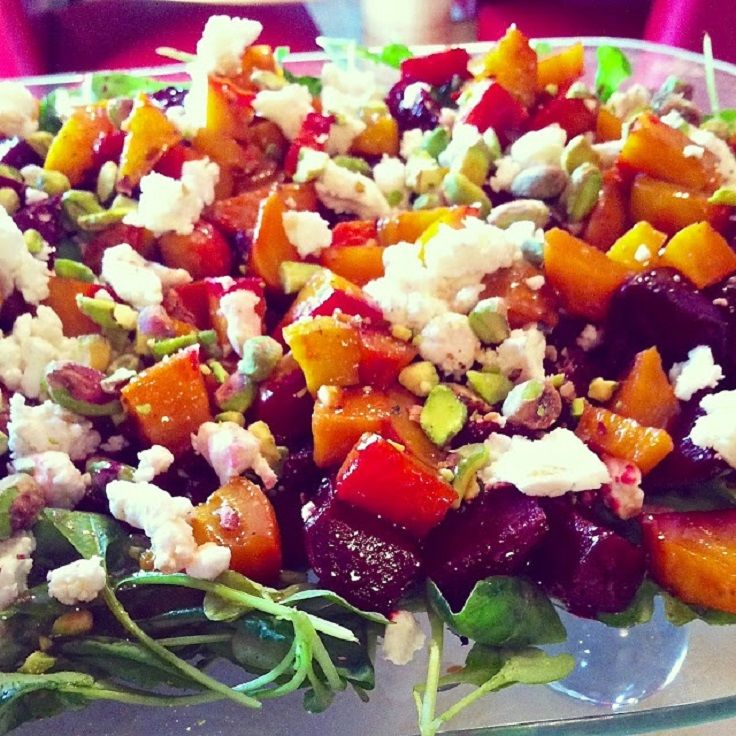Beet And Goat Cheese Arugula Salad Recipe — Dishmaps