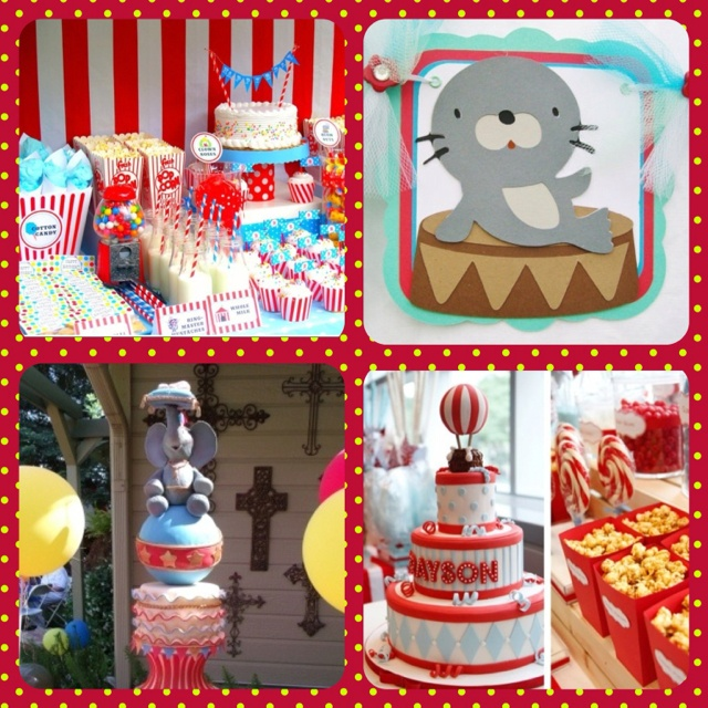 circus theme baby shower party invitations ideas