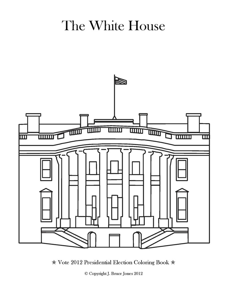 White House Coloring Page Destination America