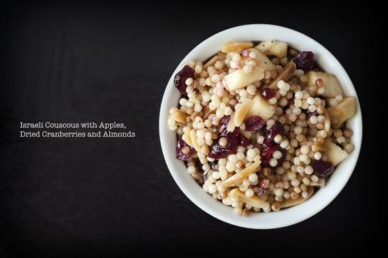 Israeli couscous with apples, cranberries and almonds. (A variation on ...