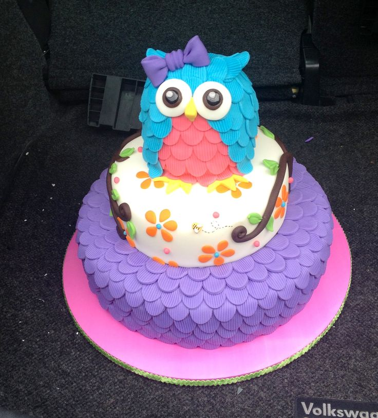 Purple Owl Birthday Cake Image Inspiration of Cake and Birthday