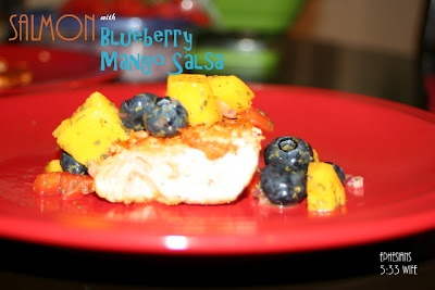 Salmon with blueberry mango salsa | Blog | Pinterest