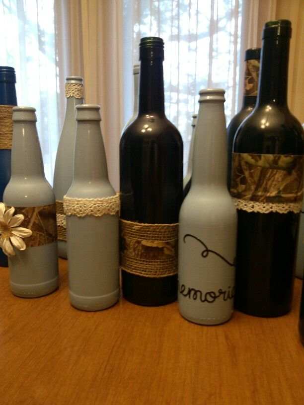 Painted wine bottles for wedding the for What kind of paint to use for wine bottles