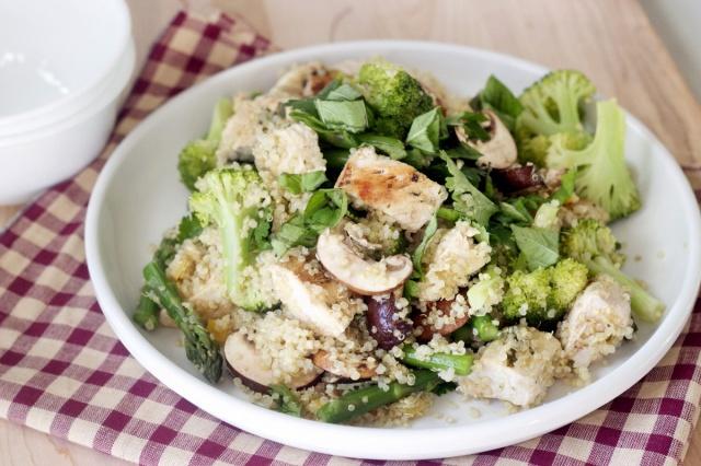 Basil Lemon Chicken, Quinoa Salad | Eat it | Pinterest