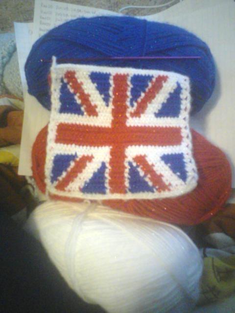 Crochet Pattern Union Jack : British Flag crochet patter COASTERS CROCHET Pinterest