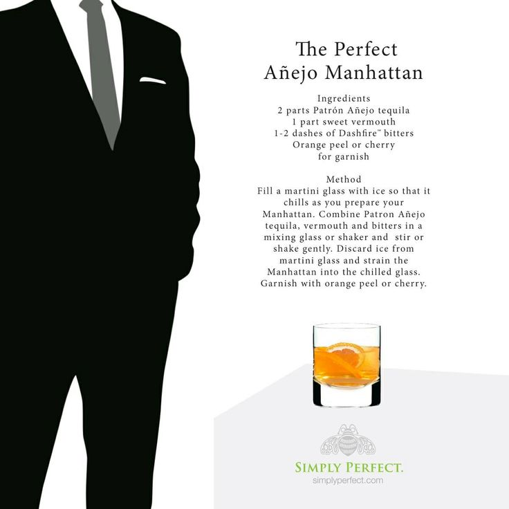 The Perfect Añejo Manhattan | Care For a Tasty Beverage? | Pintere ...