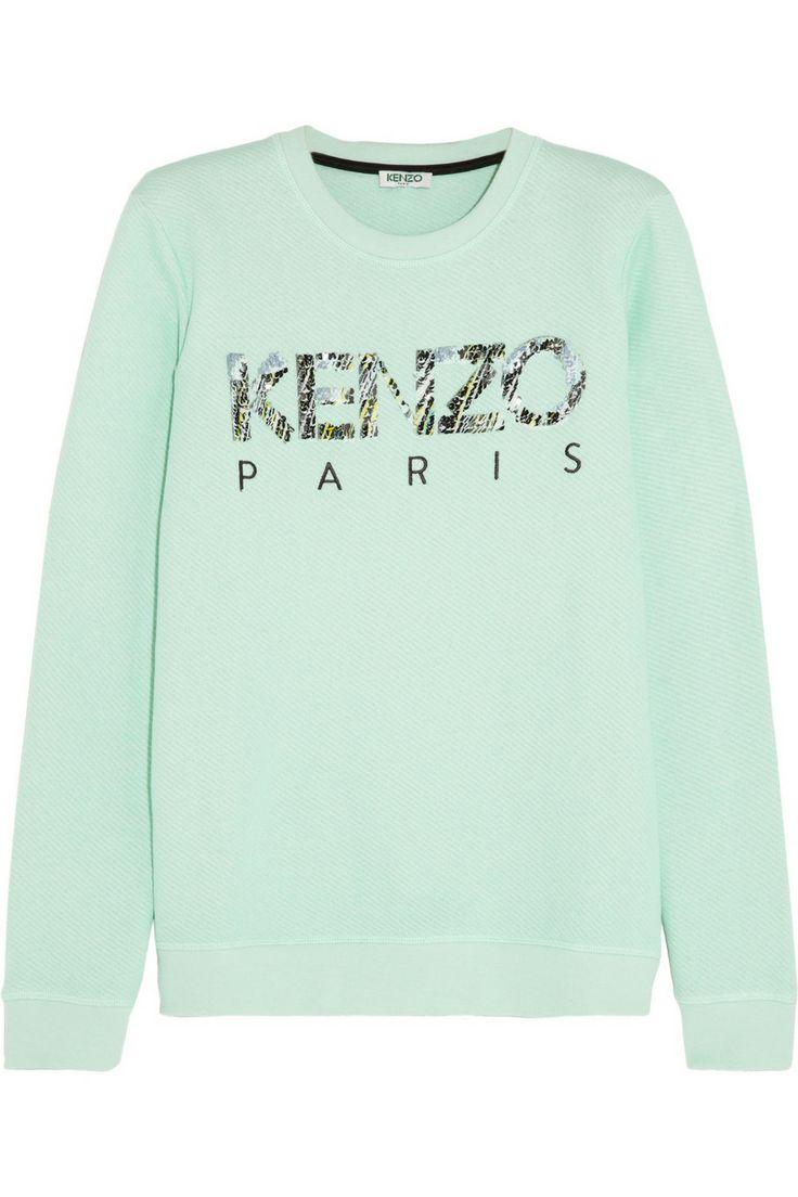 KENZO|Sweat en coton orné de sequins
