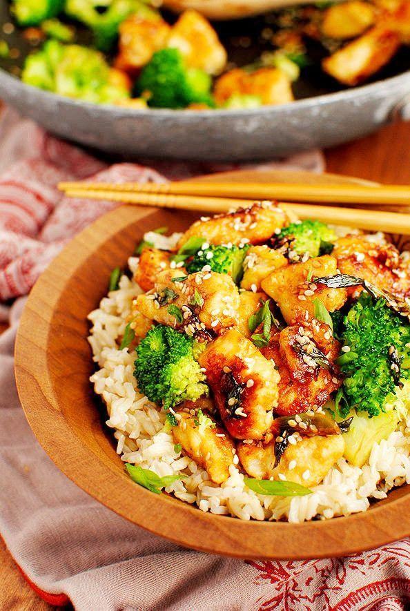 Lighter Sesame Chicken - Joybx | chicken | Pinterest
