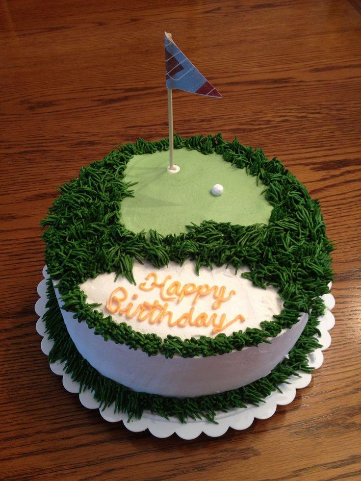 Golf cake for hubbys birthday  Food  Pinterest