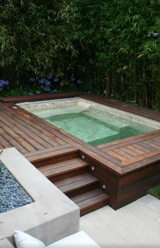 Super Modern Hot Tub Back Yard Redesign Pinterest