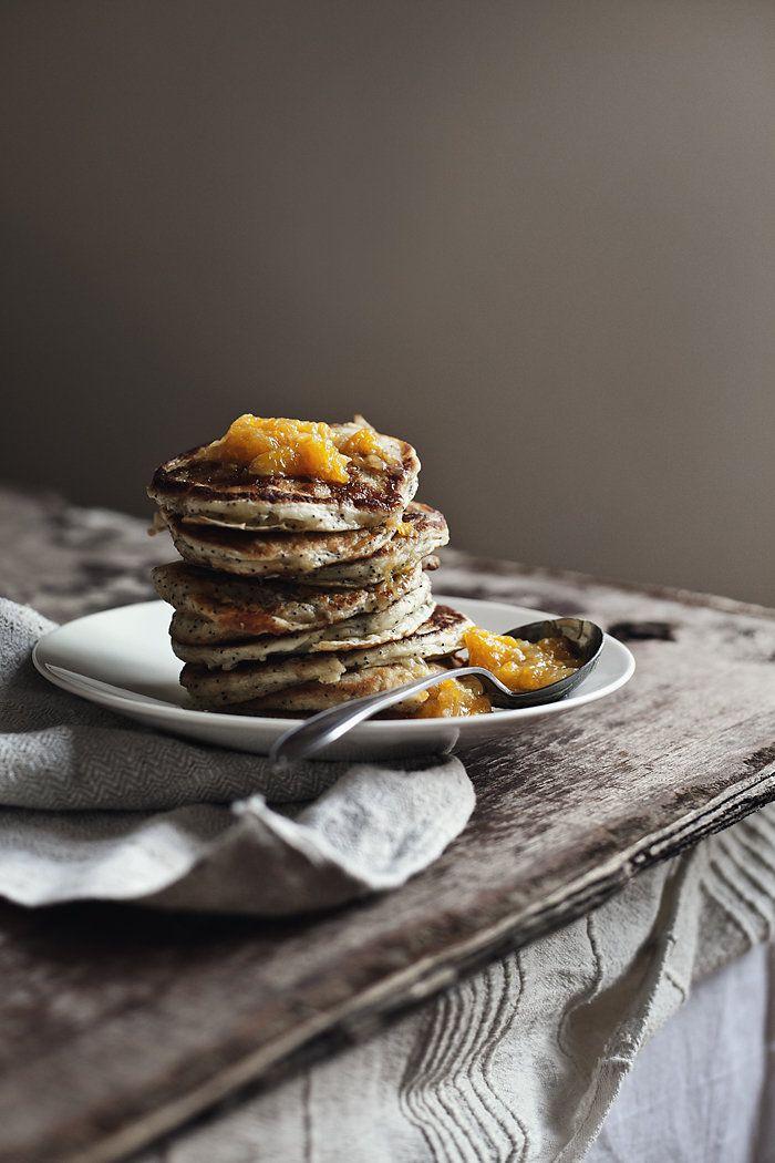 Poppy Seed & Citrus Pancakes #whbmfoodies