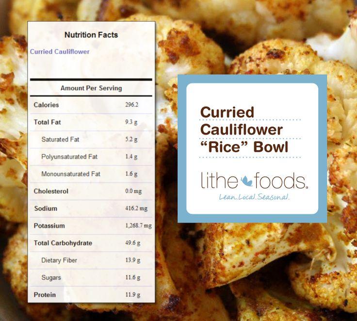 "Curried Cauliflower ""Rice"" Bowl! | Recipes | Pinterest"