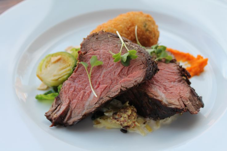 Beef Tenderloin with Braised Leeks and Dijon Mustard Served with a ...