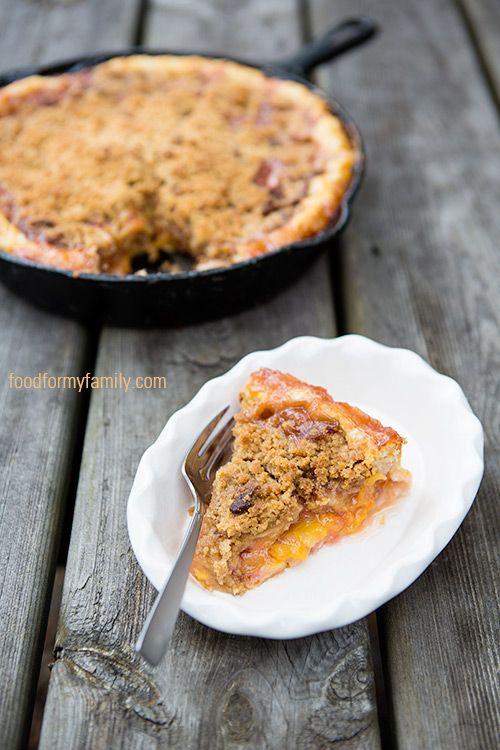 Peach Bourbon Pie with Bacon Brown Sugar Crumble #Recipe ...
