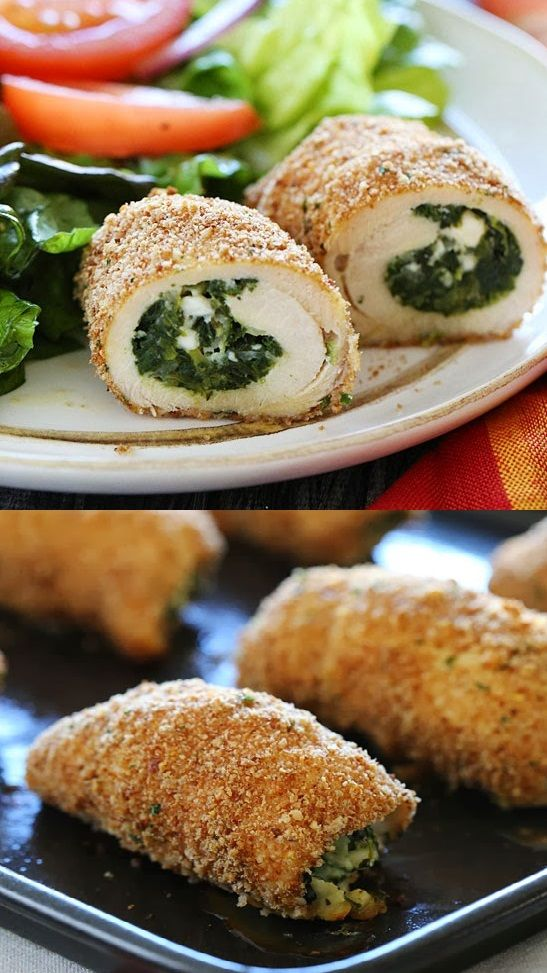 Spinach-and-Feta-Stuffed-Chicken-Breast | Come & Get It! | Pinterest